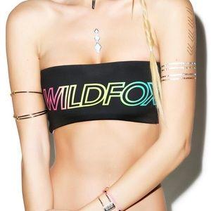 Wildfox Swim Reversible Scuba Bandeau Bikini Top